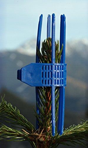 100 Stk. Verbissschutz-Manschetten in Blau * Wildverbiss- und Fegeschutz * Neu