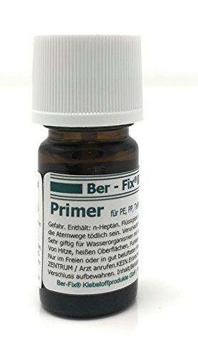 Ber-Fix Primer für Sekundenkleber / Industriekleber Grundierung für PE PP Silikon Teflon (5 ml) in Pinselflasche