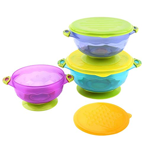 Colorful Baby and Toddler Bowls sello succión, tapas
