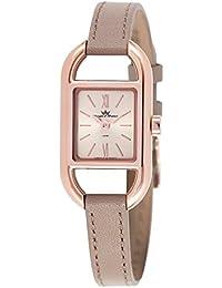 Yonger & Bresson DCR 1694 – 06 – Reloj Mujer – Cuarzo Analógico – Reloj dorado – Pulsera cuero gris