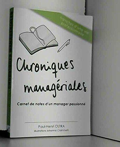 Chroniques Manageriales par Paul Henri Oltra