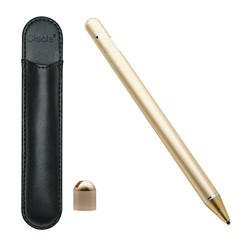 Stylus Stift, Ciscle elektronischer aktiver Eingabestift mit 1,8mm ultrafeiner Spitze für perfekt Schreiben sowie Malen auf Touchscreen von iOS, Android Geräten, z.B. iPhone, iPad, Samsung, Huawei, Tablet usw..(Gold)
