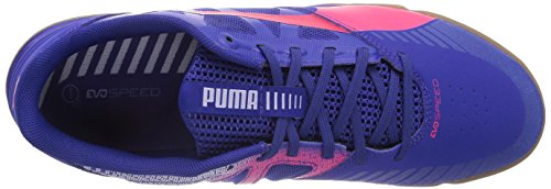 Puma evoSPEED Sala, Chaussures de football homme Bleu - Blau (clematis blue-bright plasma-gray dawn 08)