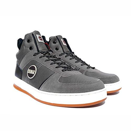 colmar-renton-drill-sneakers-homme-faux-cuir-gris-41