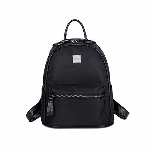 neue mini - mode kleinen rucksack aus oxford tuch freizeit lady tasche,medium schwarz medium schwarz