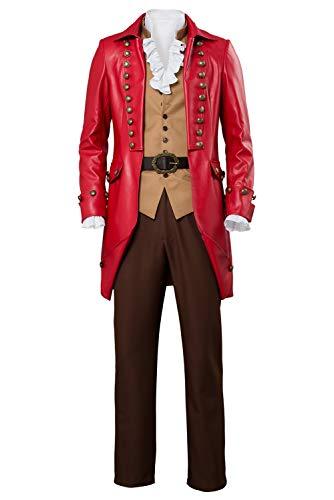 MingoTor Die Schöne und das Biest Gaston Cosplay Kostüm Herren XL (Gaston Kostüm)