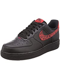 b90c64878100c5 Nike Air Force 1 07 F Red Paisley Russian Floral Black University Red