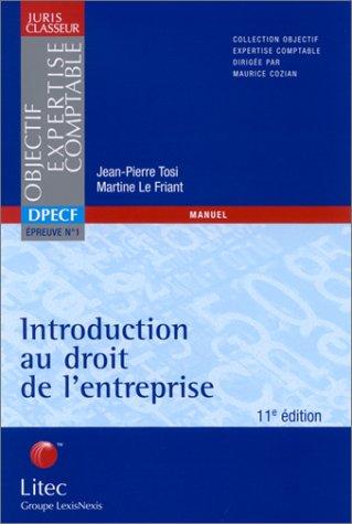 Introduction au droit de l'entreprise (ancienne édition)