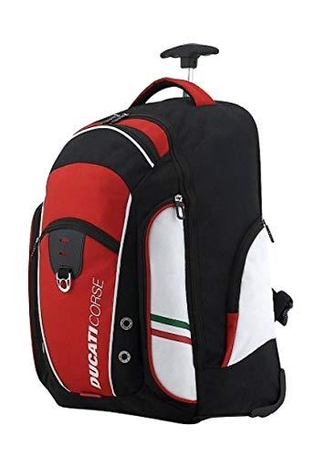 Zaino Trolley Porta Pc Ducati Corse 45 x 26 x 33 cm Spallacci e Schienale Imbottiti Peso Kg 2,00