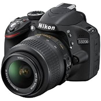 Nikon D3200 Digital SLR Camera (Black) with AF-S DX 18-55mm VR II and AF-S DX 55-200mm VR II , Double Zoom Kit with 8GB Card, Camera Bag