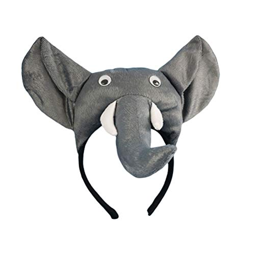 Amosfun Elefante Diadema Kids Animal Cosplay Headwear Carnival Head Hoop Regalo de cumpleaños Decoración de la Fiesta de los niños