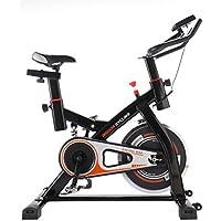 Preisvergleich für OUTAD Profi Indoor Cycle Fahrrad Heimtrainer Fahrrad Trimmrad Indoor Fitness Bike mit LCD Display und Stoßdämpfungssystem, Speedbike Flüsterleisem Riemenantrieb, Fahrrad Ergometer bis 150KG