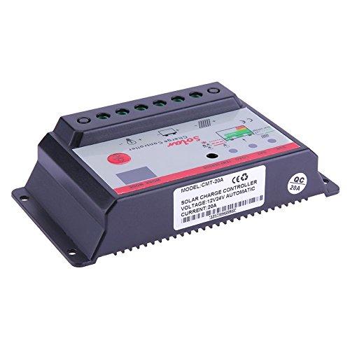 anysell 12V 24V Solarpanel Akku Batterie Laderegler Lampe Regulator Timer (20A)