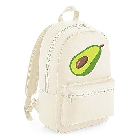 Apparel Printing Emoji Avocado Kids Backpack, Beige
