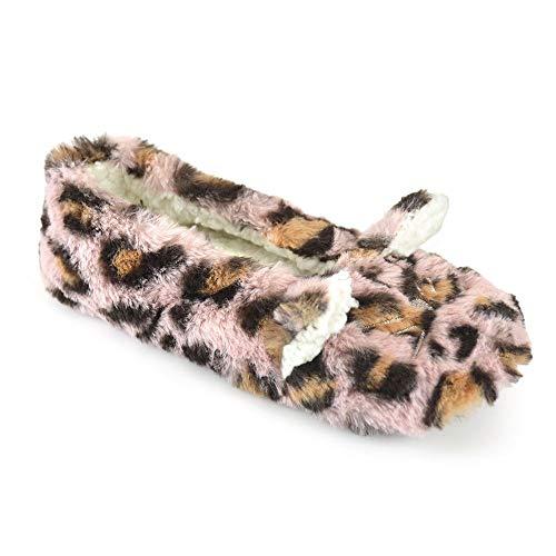 undercover lingerie Ladies Leopard Print Ballet Slipper FT1530 Pink 3-4 (Lingerie Leopard Print)