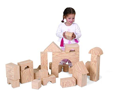 Preisvergleich Produktbild Löwenherz 726032 Softbausteine in Holzoptik 32 teilig, coole Bauklötze in Holzoptik, sorgen für riesen Gaudi, bestehend aus verschieden förmigen Schaumstoff- Bauklötzen, viele Möglichkeiten für kleine Baumeister! Geeignet für Babys ab 9 Monaten