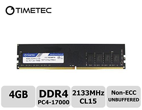 Timetec Hynix IC 4GB DDR4 2133MHz PC4-17000 Unbuffered Non-ECC 1.2V CL15 1Rx8 Single Rank 288 Pin UDIMM Pc sobremesa Memoria principal Module Upgrade (4GB)