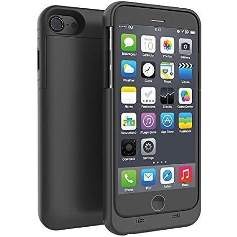 Caja de batería del iPhone 7, KINGCOO portátil 3200mAh banco recargable del paquete de energía de batería de reserva ampliada Estuche cargador para Apple iPhone 7 (4.7 pulgadas,