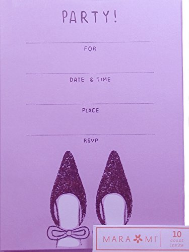Preisvergleich Produktbild Purple Party Invitation ~ 10 Count by Mara-Mi