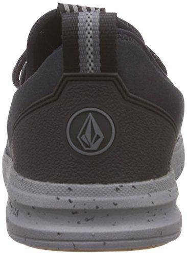 Volcom - Draft Shoe, Scarpe da Skateboard Uomo Nero (Schwarz (Black/Charcoal BCH))