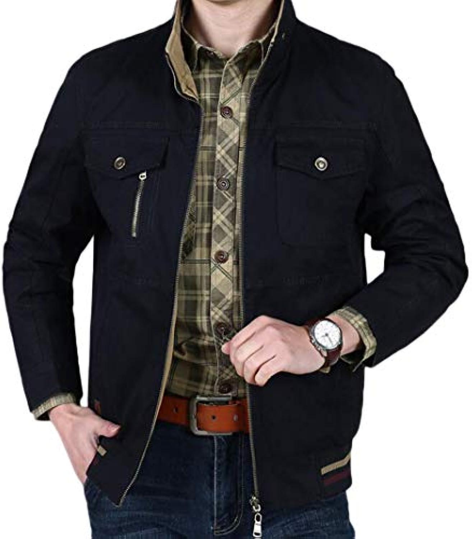 JBHURF Camicia da Uomo Manica Kaki a Manica Uomo Corta in Cotone  BiColoreeee con Rivestimento bifacciale 79bdea7f0cc