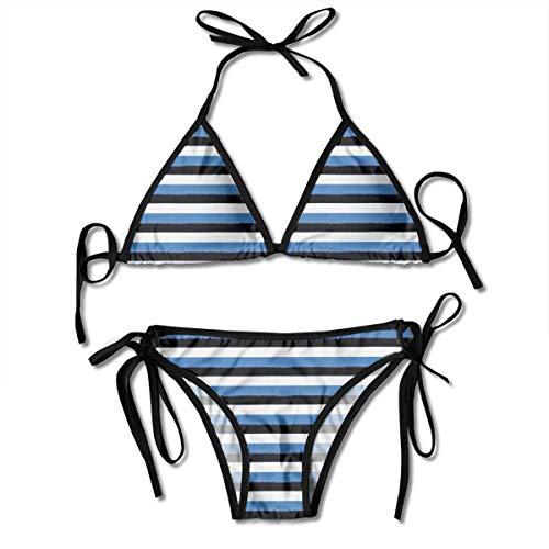 Estonian Flag (Forest) Women's Sexy Push up Thong Bikini Sets Swimwear Two Piece Swimsuit