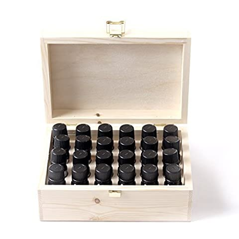 Mystic Moments Essential Oil Starter Pack In Wooden Gift Box - 24 x 10ml - 100% Pure