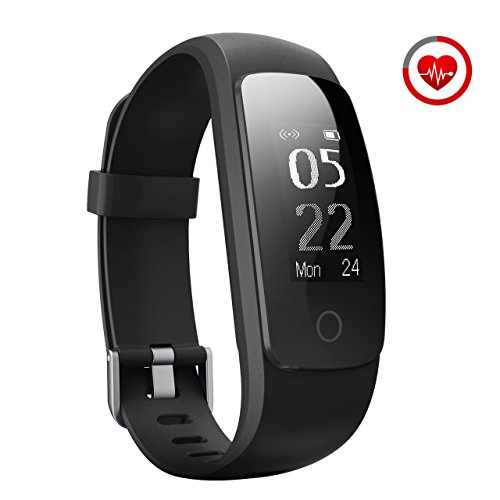 Fitness Tracker, [Upgraded Version] Mpow Heart Rate Monitor Smart Bracelet Activity Tracker Fitness Health Smartwatch Wristband Bluetooth Pedometer with 14 training modes for Android and iOS Smart Phones""