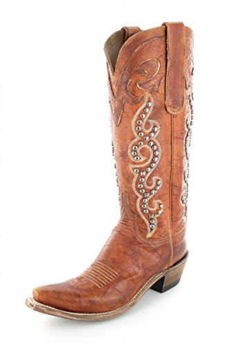 Lucchese Westernstiefel N4760 Braun Damen Fashion Stiefel Cowboystiefel Chocolate