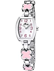 Lotus L15771-2 - Reloj infantil, correa de acero color rosa