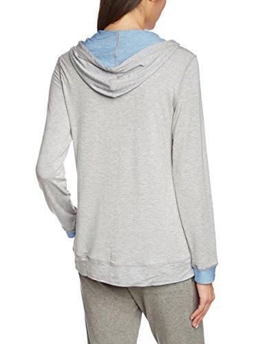 Schiesser Jacke 1/1 Arm - Haut de pyjama - Femme Gris - Grau (grau-mel. 202)