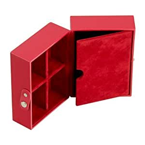 STACKERS Red Travel Box Stacker Accessory with Red Velvet Lining