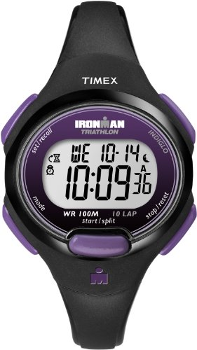 Timex Sport Ironman Midsize Digital Watch with LCD Dial Digital Display and Black Resin Strap T5K523SU