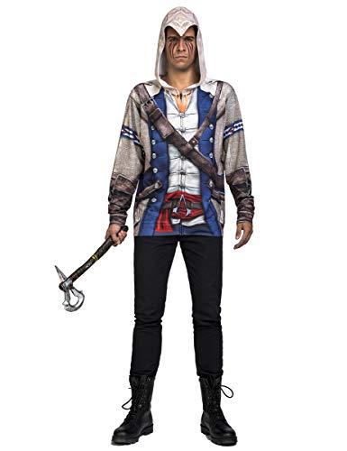 Generique - Assassins Creed-Lizenzkostüm Connor-Kostüm blau-grau Einheitsgröße