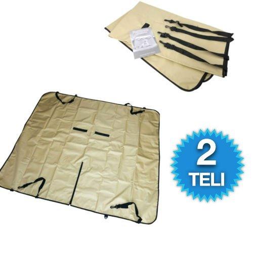 2 Teli copri sedile auto impermeabile proteggi sedili da pelo e bava di cane gatto anim