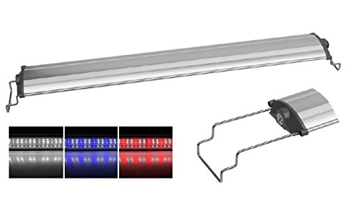 Sun Sun Led Aquarium Lamp SL - Plafoniera a lampade LED ultra slim, in varie misure e colori, con supporti scorrevoli regolabili per il fissaggio a bordo vasca (Bianca/Rossa, SL-1000)