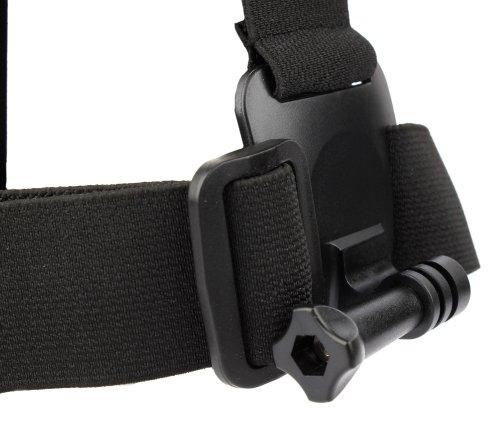 Adaptador de Smartphone para accesorios de GoPro y cámaras deportivas + Correa negra antideslizante para la cabeza para Smartphone Xiaomi Redmi 3 / Redmi Note 3 Pro / Mi 4s / Mi 5 / Elephone P9000 / Funker W5.5 Pro - DURAGADGET