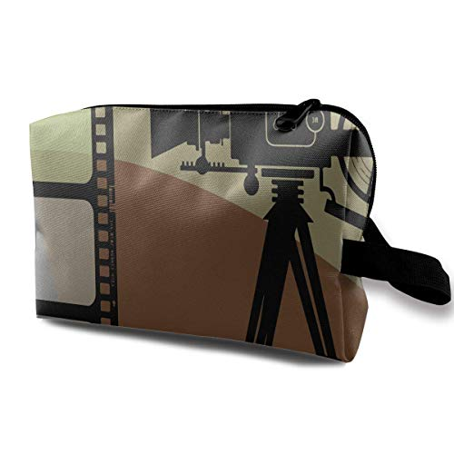 etiktaschen Movie Film Shooting Multi-Functional Toiletry Makeup Organizer black makeup bag ()