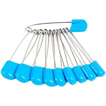 2 1/8 Inch Plastic Head Safety Locking Baby Cloth Diaper Pins 50pcs