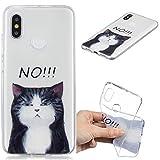 Klassikaline® Handy-Hülle TPU Silikon Xiaomi Mi 8 Hülle, Etui Protective/Case / Cover/Zubehör / Silikon hülle/Schutz-Cover - Schwarze Katze