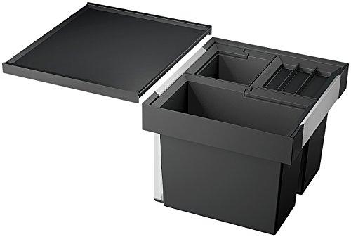 Blanco Flexon II 50/3, Abfallsystem für die Mülltrennung in der Küche, mit 3 Mülleimern (19 l / 2 x 8 l), zur Montage in der Schublade Eines 50 cm-Unterschranks; 521470