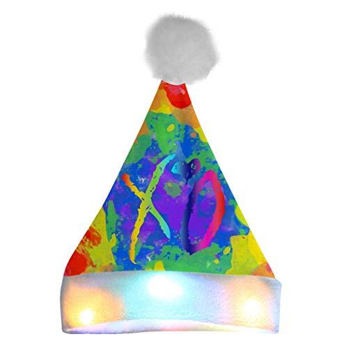 352 XO The Week-nd - Cappello da Babbo Natale con luci LED, per Adulti e Bambini, Bianco, Taglia Unica