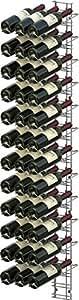 VISIORACK Support mural de 36 bouteilles de 75cl en position inclinée - ACI-VIS203