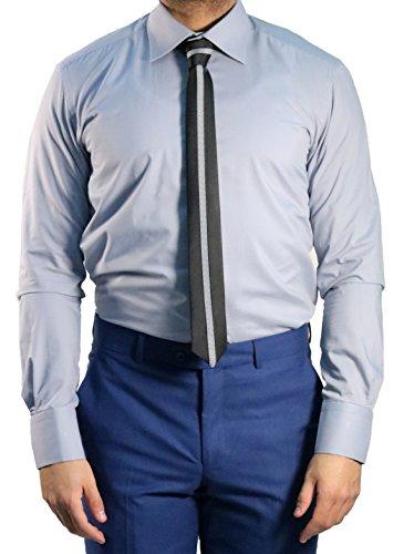 Herrenhemd Kent Kragen Slim-fit/Tailliert Muga Grau