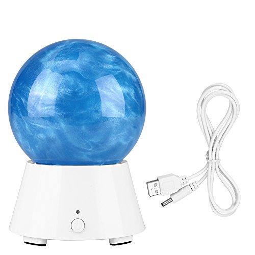 Taidda Universe Planet Crystal Ball Bluetooth-Lautsprecher, Creative Universe Planet Design USB-Ladekabel mit 3D-Nachtlicht-Kristallkugel (Crystal Planet)