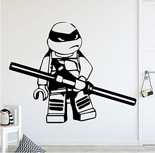 Pbbzl Diy Teenage Mutant Ninja Turtles Wohnkultur Wandaufkleber Für Kinderzimmer Wohnzimmer Wohnkultur Aufkleber Wohnkultur 58X46 Cm - Turtle Hintergrund Ninja