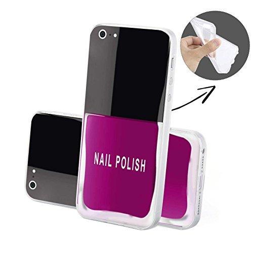 FINOO Handyhuelle Trasparente Silicone Motivo 5 - Figo Story SILICONE, iPhone 6/6S Smalto unghie SILICONE
