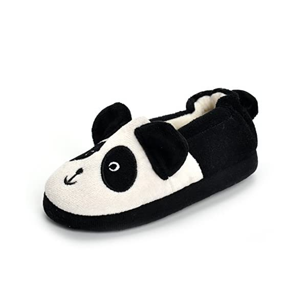 ESTAMICO Toddler Boys Girls Plush Panda Winter Slippers