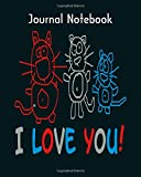 Journal Notebook: cats katzen familie cats i love you - 50 sheets, 100 pages - 8...