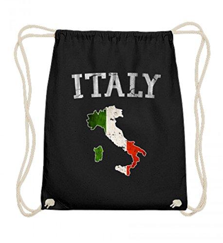 Hochwertige Baumwoll Gymsac - Italy Italia Italien Flagge Vintage Stolz Geschenk (Vintage-shirts Stolz)